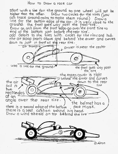 492x640 How To Draw A Race Car Worksheet. Easy Painting