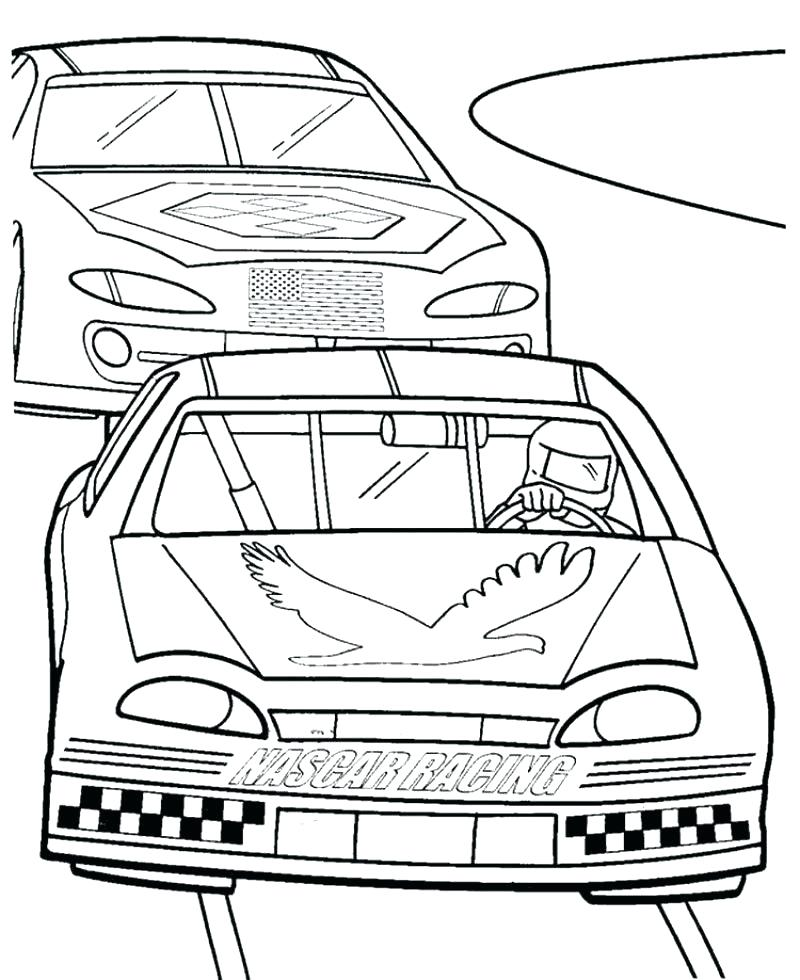 800x980 Nascar Coloring Pages Coloring Pages Two Racing Car Precede Each