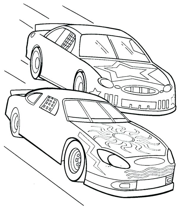 600x698 Race Car Pictures To Color Coloring Pages For Kids Race Car