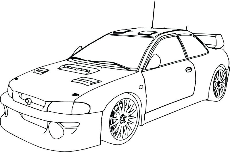 800x531 Printable Race Car Coloring Pages