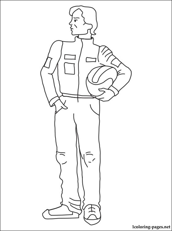 560x750 Racing Driver Coloring Page Pages
