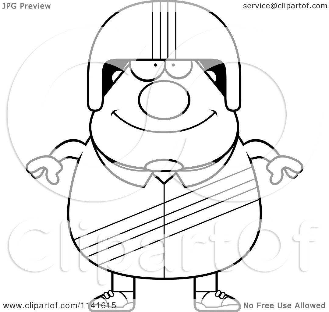 1080x1024 Cartoon Clipart Of A Black And White Happy Race Car Driver