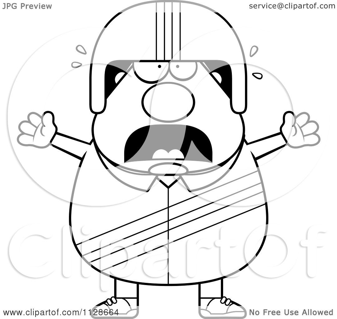 1080x1024 Cartoon Clipart Of An Outlined Frightened Race Car Driver