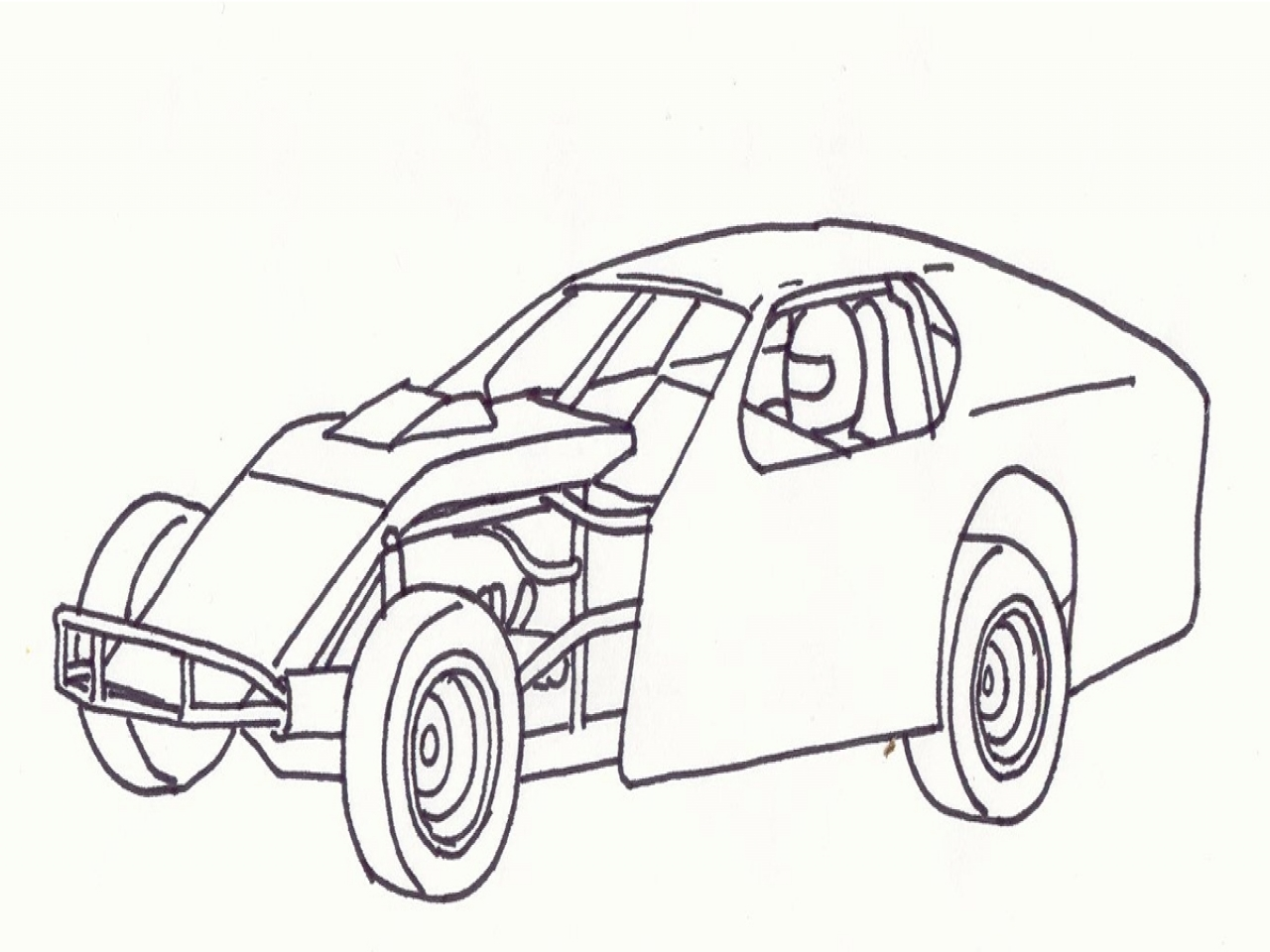 1280x960 Blank Coloring Pages Dirt Roads Modified Race Car