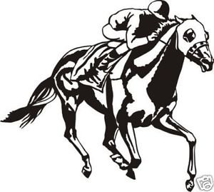 300x269 Race Horse Sticker Decal For Car, Ute, 4wd, Horse Float Ebay