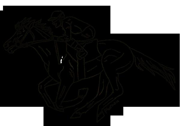 600x420 Racehorse Lineart By EmikoPharaoh On DeviantArt