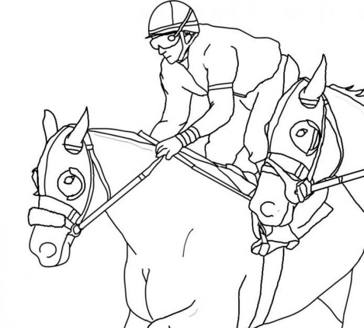 1200x1080 Coloring Pages Horses Free Copy Race Horse