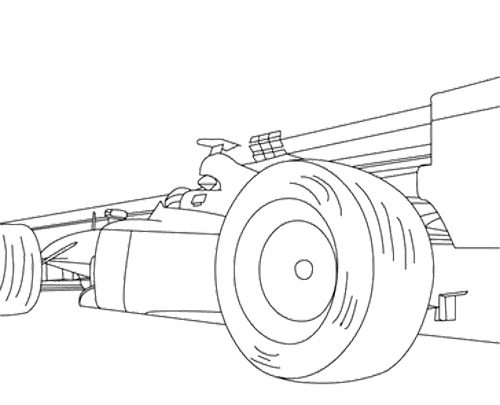 500x405 Track Racing Car Coloring Page