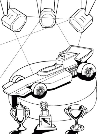 400x547 Winner Track Race Car Coloring Page