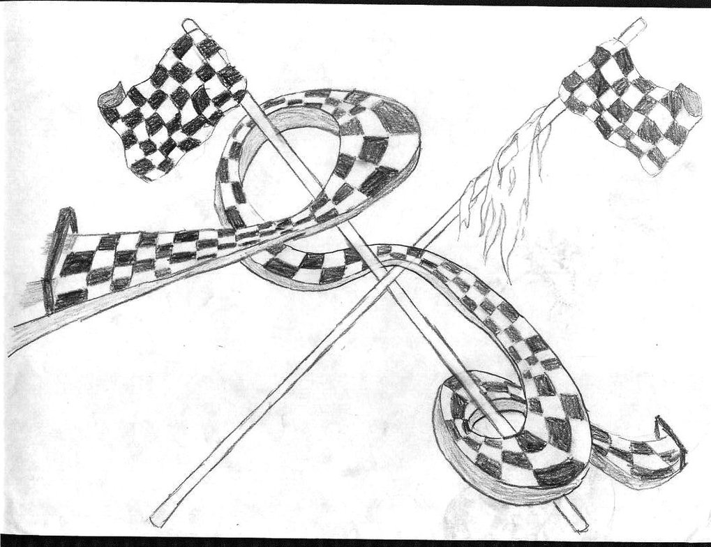 1019x784 Abstract Race Track By Manga Strifer