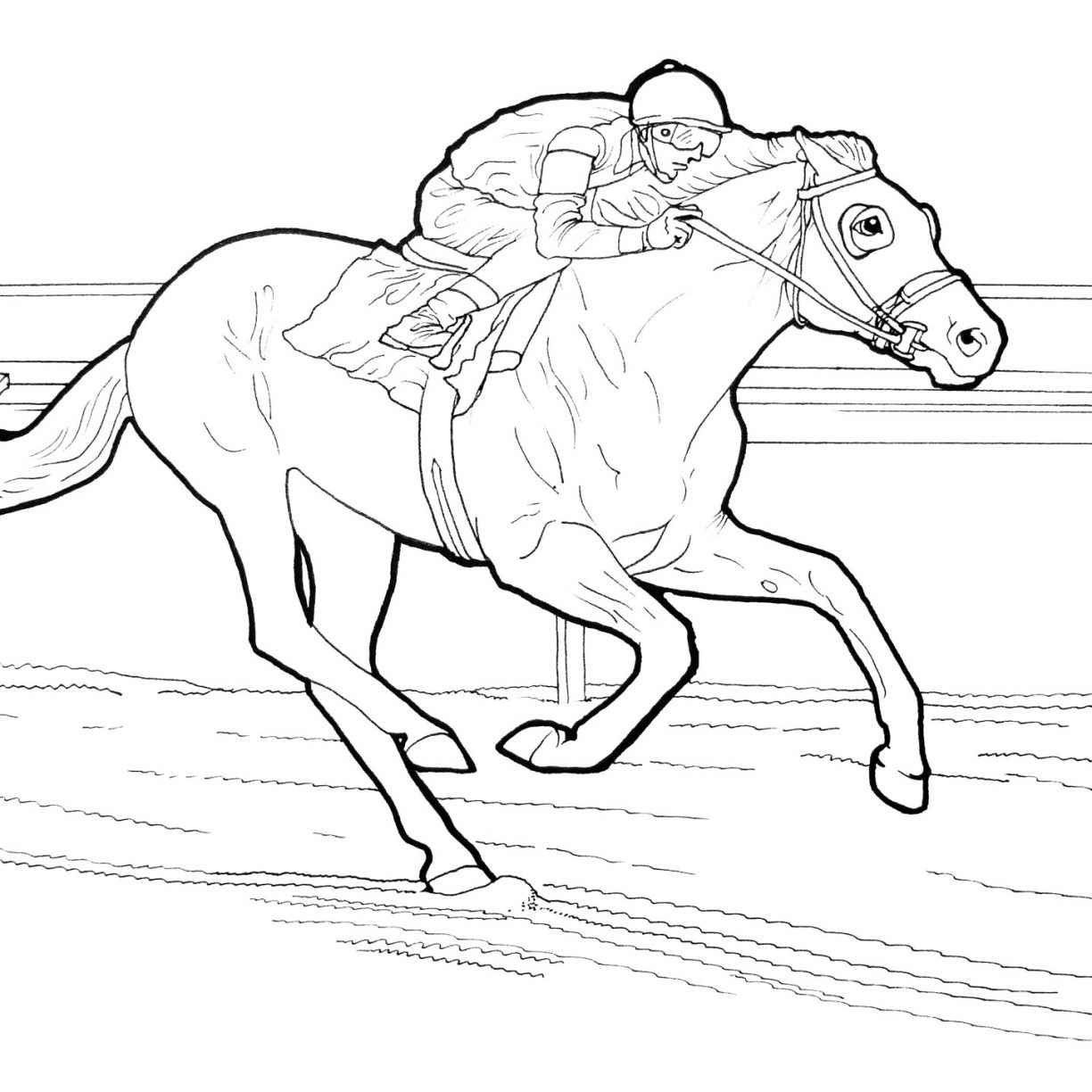 1224x1224 Color Pages Horses Race Horse Coloring To Print Free Printable