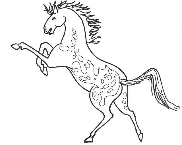 640x509 Elegant Printable Horse Coloring Pages For Appaloosa Horse