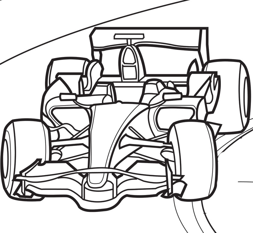 842x773 Track Coloring Pages