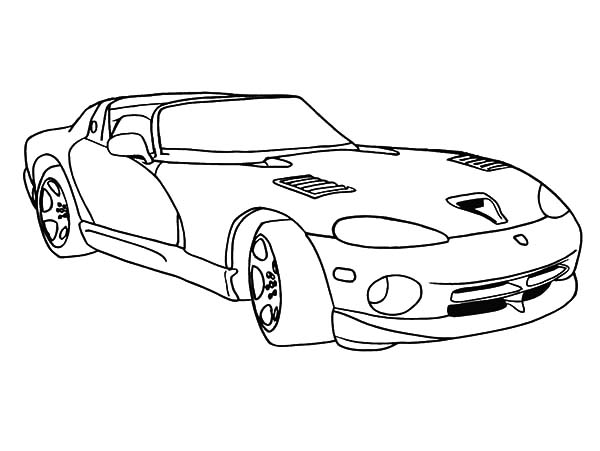 600x451 Racing Car Dodge Viper Coloring Pages Coloring Sky