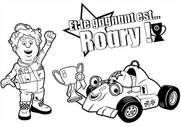 600x421 Winning Racing Championship In Roary The Racing Car Coloring Pages