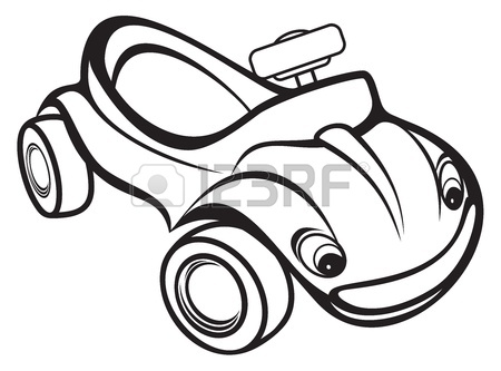450x333 Cute Kids Race Car Black And White Royalty Free Cliparts, Vectors