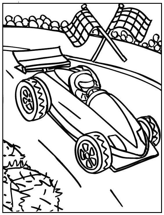 Racing Cars Drawing