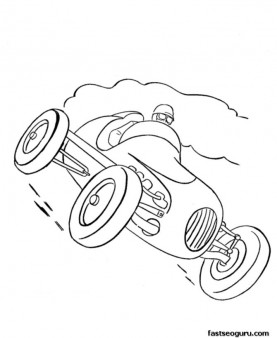 277x338 Old Race Car Print Out Coloring Pages For Kids