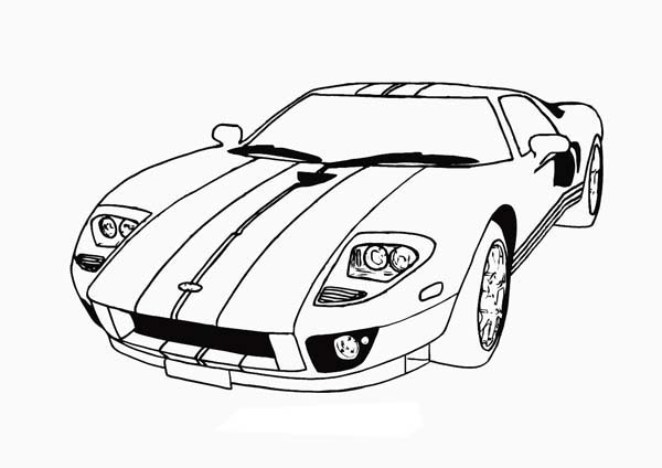 600x424 Race Car With Cool Stripe