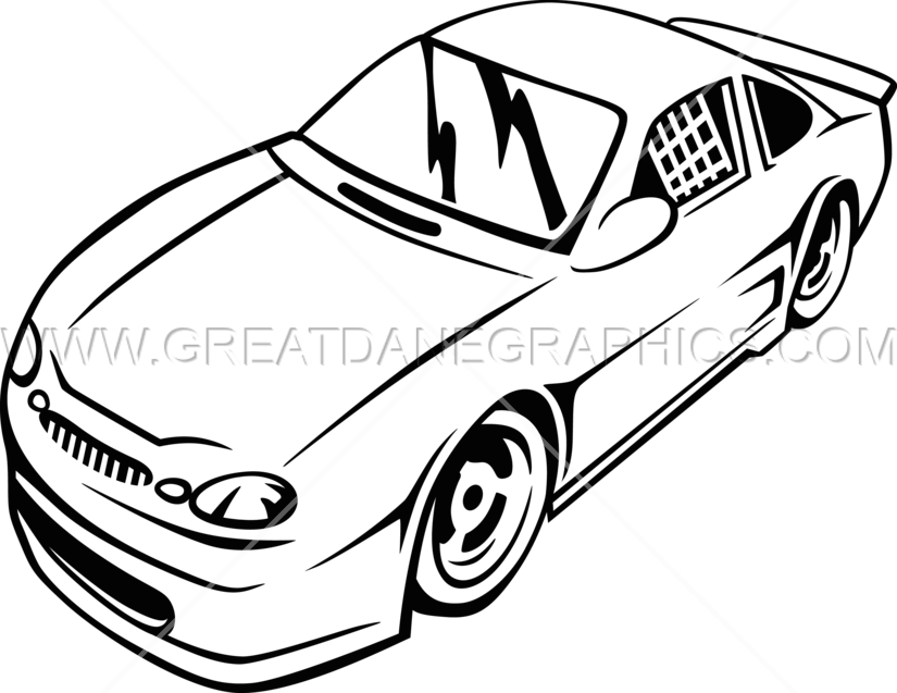 825x637 Single Color Race Car Production Ready Artwork For T Shirt Printing
