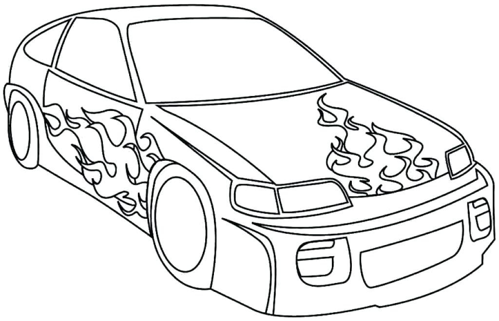 1024x659 Best Printable Race Car Coloring Pages Kids