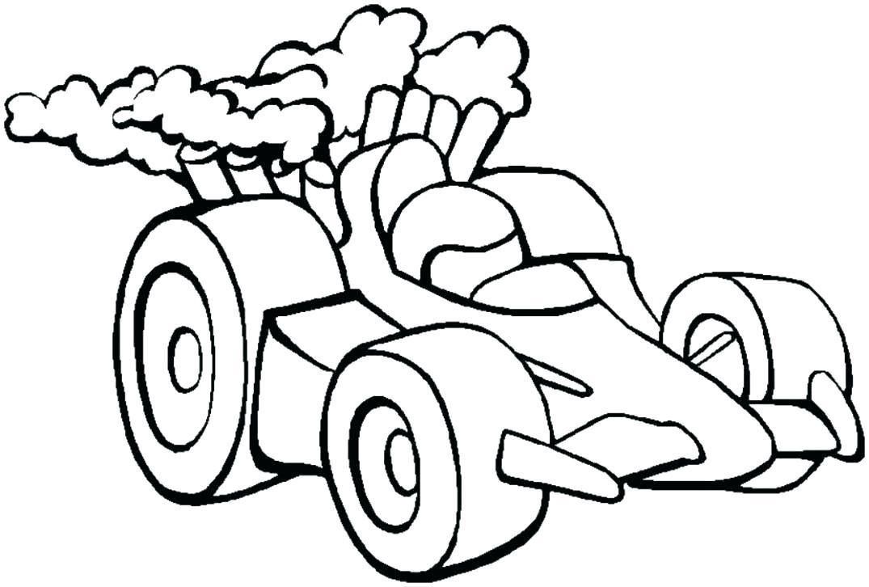 1075x726 Race Car Color Pages