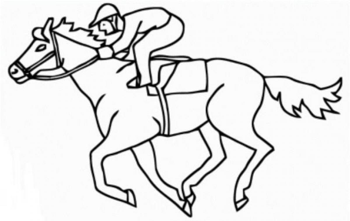 1200x759 Horse Racing Coloring Pages