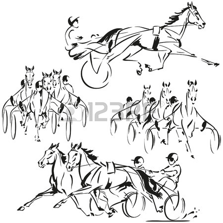 450x450 3,940 Horse Racing Stock Illustrations, Cliparts And Royalty Free