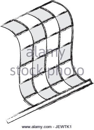 300x414 Racing Flag Draw Illustration Stock Vector Art Amp Illustration
