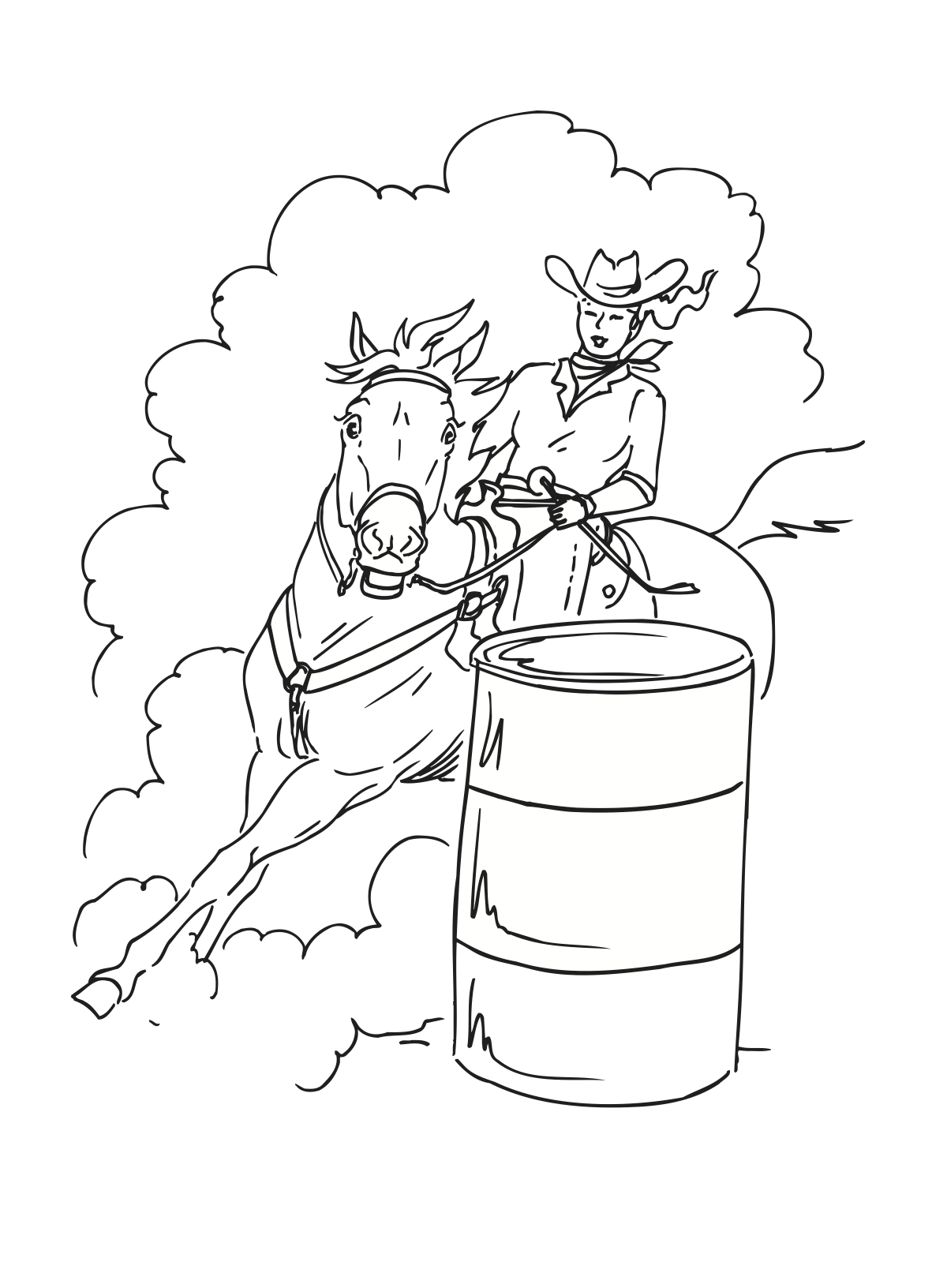 1200x1632 Barrel Racing Is A Rodeo Event In Which A Horse And Rider Attempt