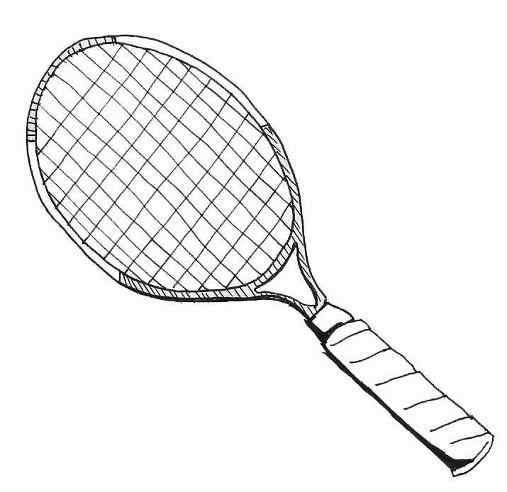715x694 How To Draw A Tennis Racquet