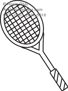 224x300 Tennis Racket Coloring Page Royalty Free Clip Art Picture