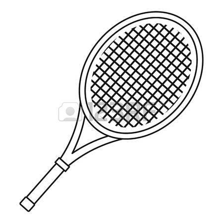 450x450 Tennis Racket Icon. Outline Illustration Of Tennis Racket Vector