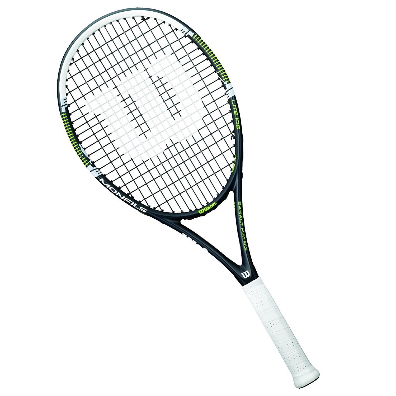 1500x1500 Wilson Monfils Lite 105 Tennis Racket Black, 1 Grip Amazon.co.uk