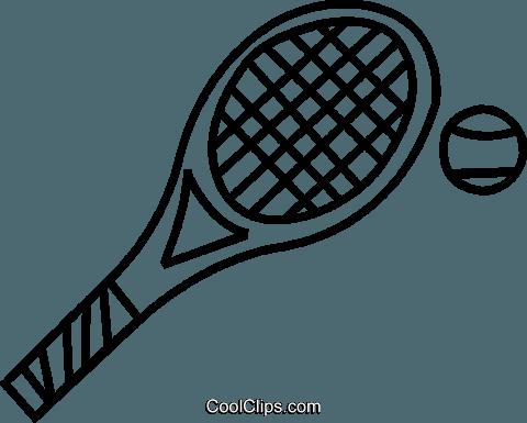 480x385 Tennis Racket Royalty Free Vector Clip Art Illustration Vc037463