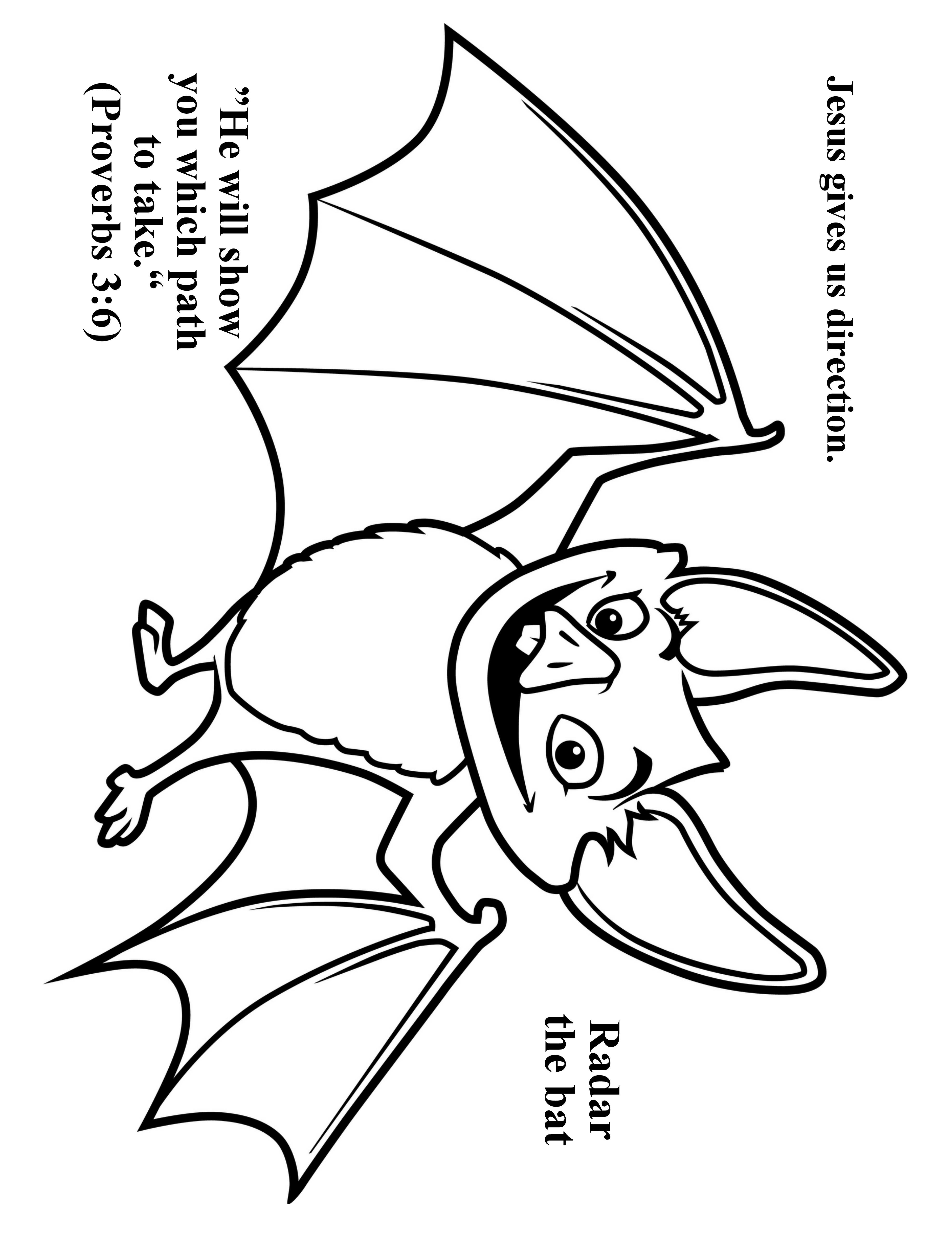 3952x5120 Cave Quest Day 3 Preschool Coloring Page Radar The Bat. Cave
