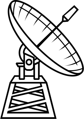 341x480 Radio Telescope Coloring Page Free Printable Coloring Pages