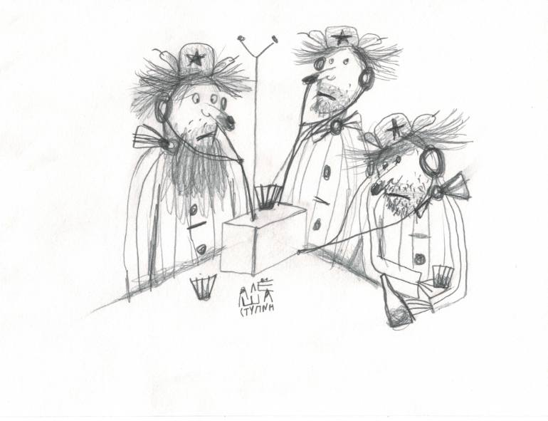 770x591 Saatchi Art Radio Drawing By Igor Ponochevnyi
