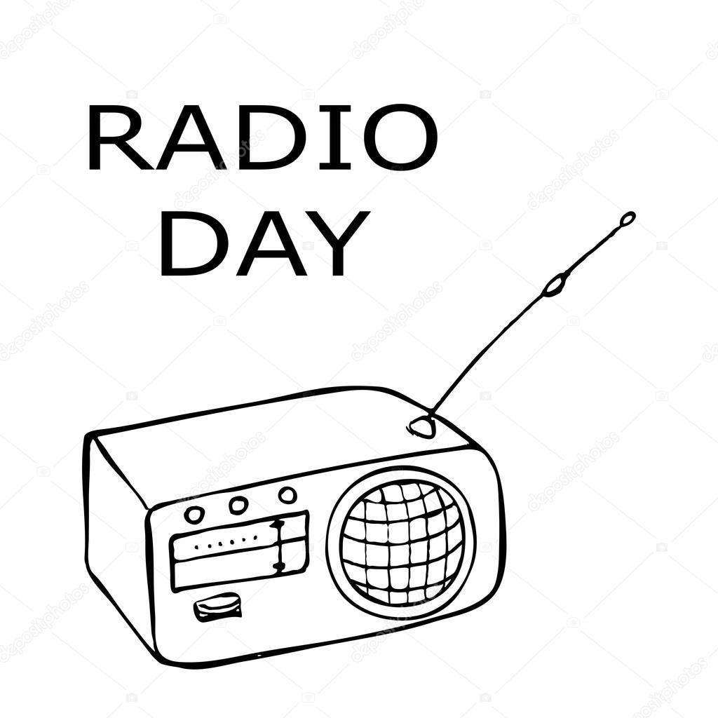 1024x1024 World Radio Day Stock Vector