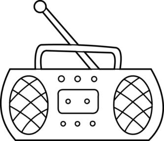 333x285 Drawing Clipart Radio