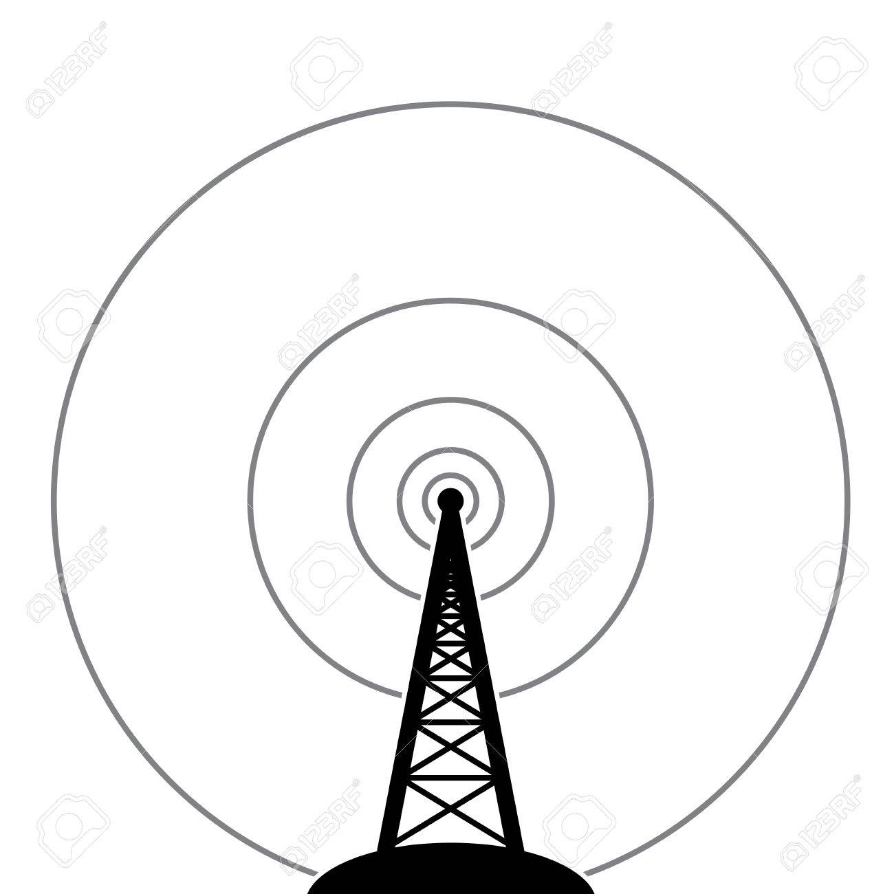 1300x1300 Illustration Of Radio Tower Broadcast Royalty Free Cliparts