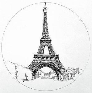 298x300 Paris Landscape Drawings