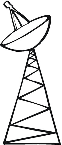207x480 Satellite Tower Coloring Page Free Printable Coloring Pages