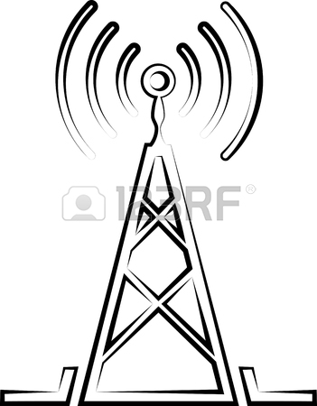 351x450 5,694 Radio Tower Symbol Stock Vector Illustration And Royalty