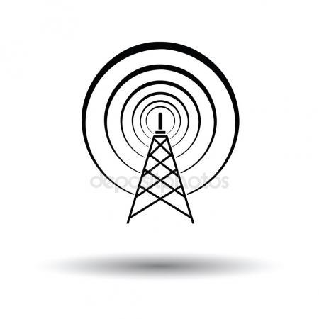 450x450 Wave Tower Radio Antenna Stock Vector Viktorijareut