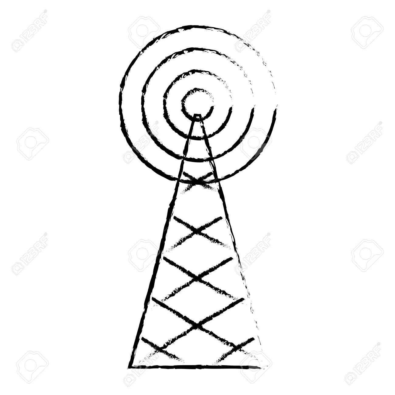 Radio Tower Drawing at GetDrawings com | Free for personal use Radio