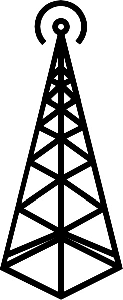 246x597 Antenna Tower Clip Art Free Vector In Open Office Drawing Svg