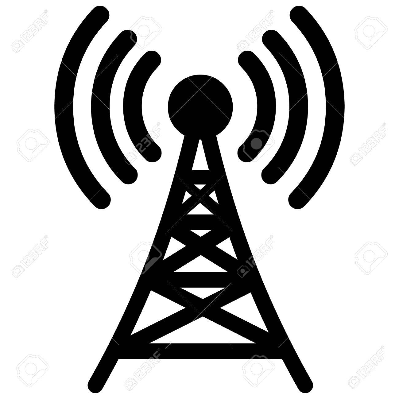 1300x1300 Broadcast Tower Royalty Free Cliparts, Vectors, And Stock