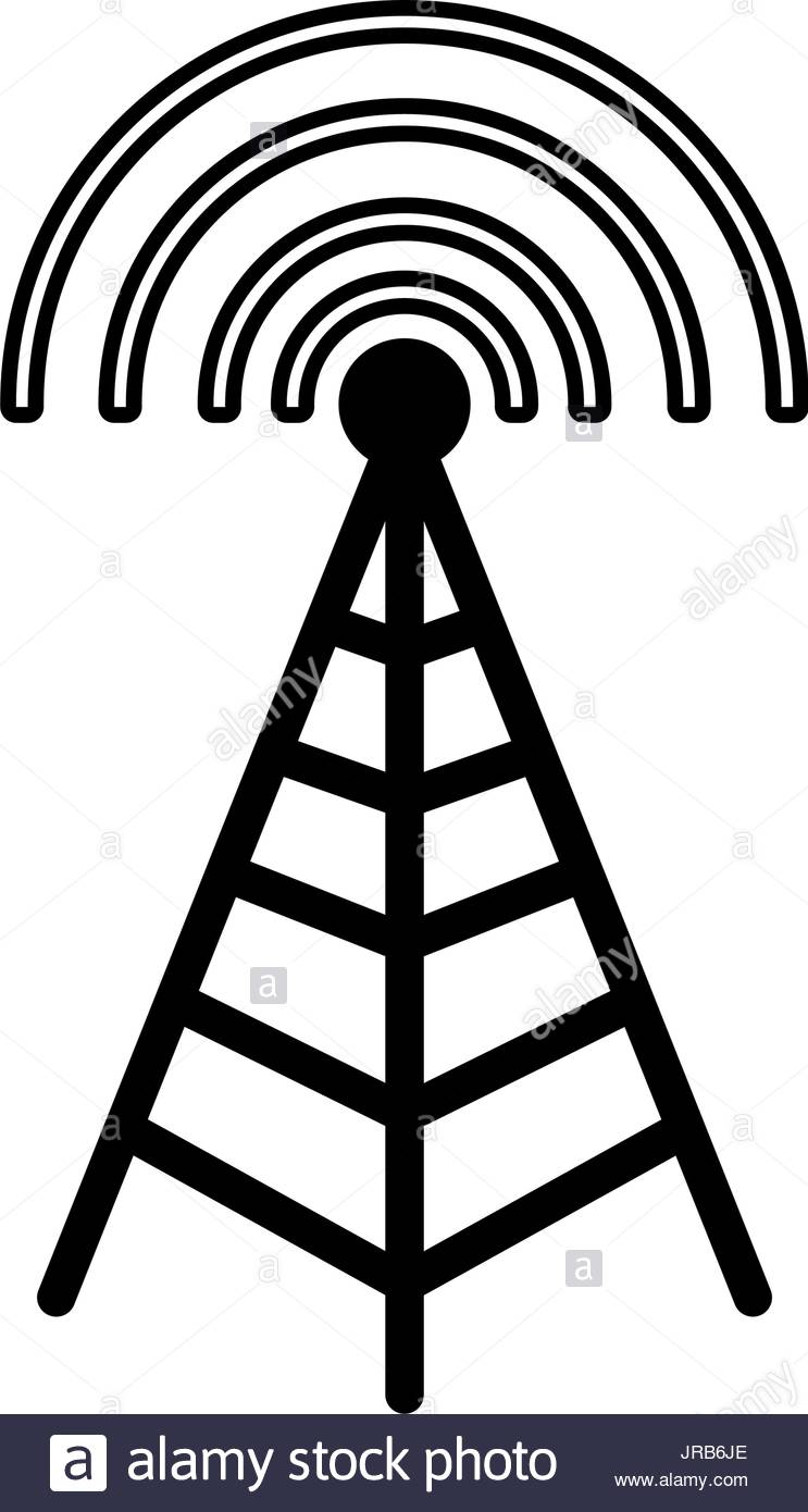 743x1390 Cell Tower Stock Vector Images