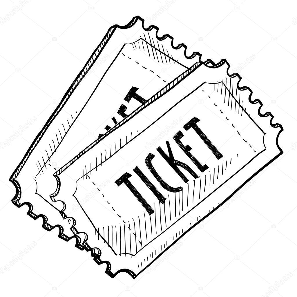 1024x1024 Event Ticket Sketch Stock Vector Lhfgraphics